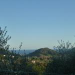vista su colline e mare di Sestri Levante